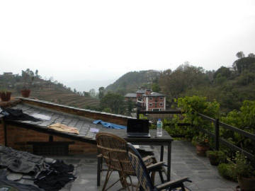 writing in the clouds - bandipur - nepal
