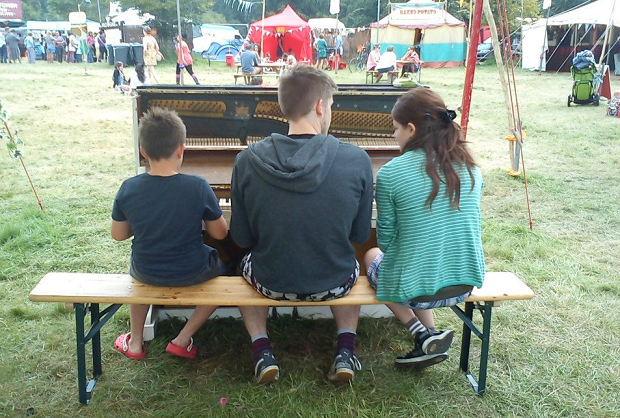 3 Pianists in a Field - Wilderness Festival 2012
